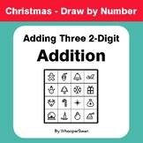 Christmas Math: Adding Three 2-Digit Addition - Math & Art