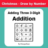 Christmas Math: Adding Three 3-Digit Addition - Math & Art