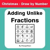 Christmas Math: Adding Unlike Fractions - Math & Art - Dra