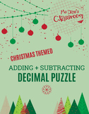 Christmas Math - Adding and Subtracting Decimals Game!