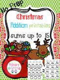 December Addition Activities