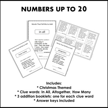 Christmas Math Addition Word Problems