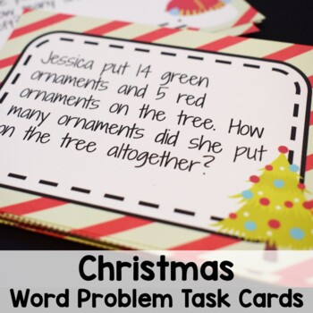 Christmas Math Addition and Subtraction Story Problem Task