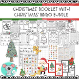 Christmas Math And Literacy Booklet With Christmas Bingo Game Bundle