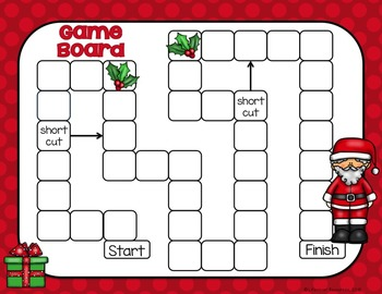 Christmas Math Game - Count and Multiply to Find Area