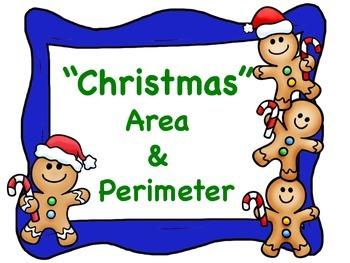 Christmas Math Area and Perimeter