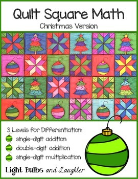 christmas math art quilt by light bulbs and laughter teachers pay teachers. Black Bedroom Furniture Sets. Home Design Ideas