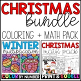 Christmas Math BUNDLE: Math Pack and Multiplication Coloring! with GOOGLE Slides