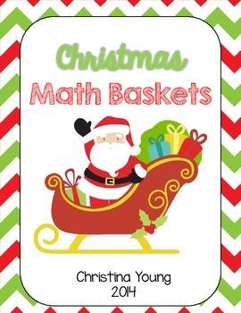 Christmas Math Baskets