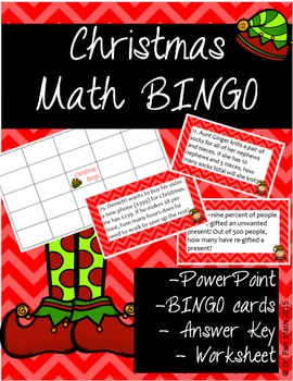 Christmas Math Bingo