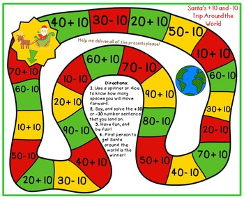 Christmas Math for First Grade- Board Games, Solve the Room, and Word Problems!