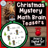 Christmas Math Brain Teasers