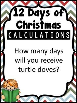 Christmas Math Bulletin Board Calculating Christmas