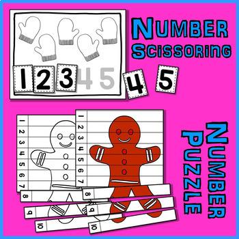 Christmas Math Bundle 1 - Christmas Math Centers for Early Math Skills