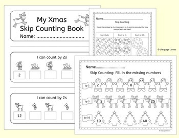 Christmas Math Bundle - addition, subtraction and skip counting