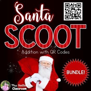 Christmas Math - Addition with QR Codes BUNDLE