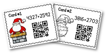 Christmas Math - Addition with QR Codes BUNDLE