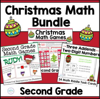 Christmas Math Bundle for Second Grade