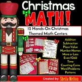 Christmas Math Centers (12 Math Centers)