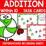 Christmas Math Center Addition within 10