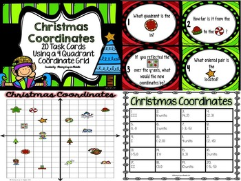 Christmas Math Center:  Christmas Coordinate Graphing