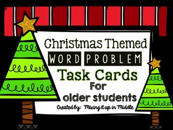 Christmas Math Center:  Christmas WORD PROBLEMS for Older Students