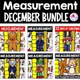 Christmas Math Center December BUNDLE Measurement Centers