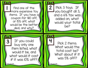 Christmas Math Center: Decimals & Percents Holiday Sales Flyer Activity