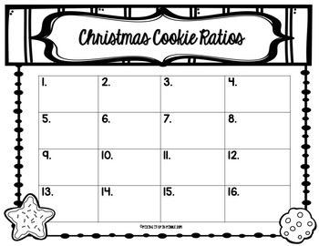 Christmas Math Center FREEBIE:  Ratios & Proportions with Christmas Cookies