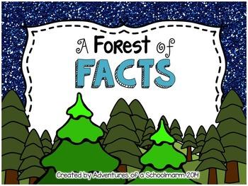 Christmas Math Center Fact Families