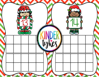 Christmas Math Center Game (Numbers 1-20)