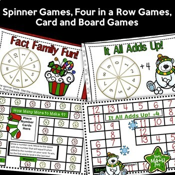 Christmas Math Centers Addition and Subtraction Facts
