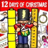 Christmas Math Center Measurement 12 Days of Christmas