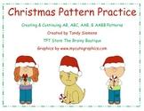 Christmas Math Center Pattern Practice