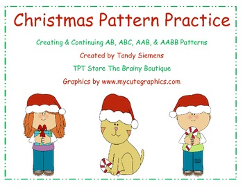 Christmas Math Center Pattern Practice