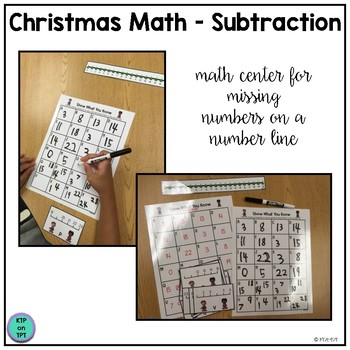 Christmas Math Center: Simple Subtraction