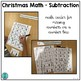 Christmas Math Center: Simple Subtraction and Number Line Practice
