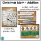 Christmas Math Center: Sums to 20