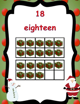 Christmas Math Center Ten Frames