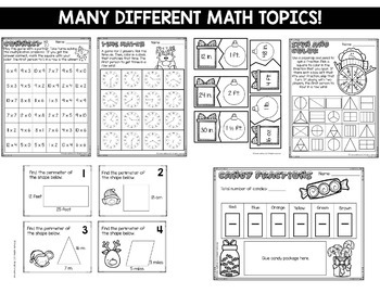 Christmas Math Centers 3rd-5th