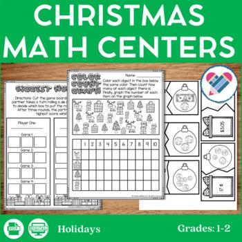 Christmas Math Centers 1st-2nd Grades
