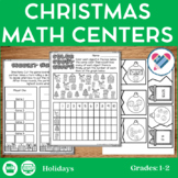 Christmas Math Centers 1st-2nd Grades