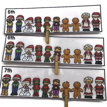 Christmas Kindergarten Math Centers