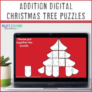 Christmas Math Centers: Addition Christmas Tree Puzzles | Christmas Math  Games