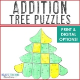 ADDITION Christmas Tree Craft | Holiday Math Projects | De
