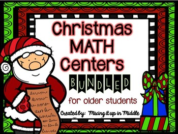 Christmas Math Centers BUNDLED for OLDER STUDENTS