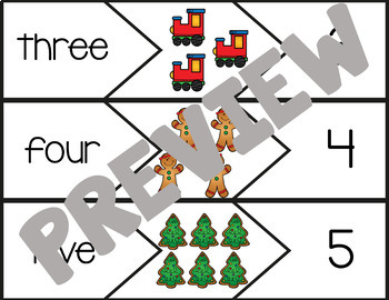 Christmas Math Centers | Number Counting Puzzles