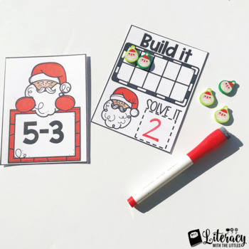 Christmas Math Centers {For Task Boxes} #ATeachersHalfOffDay