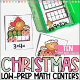 Christmas Math Centers {For Task Boxes}