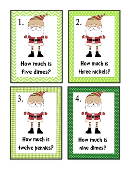 Christmas Math Centers Kindergarten First Second Grade